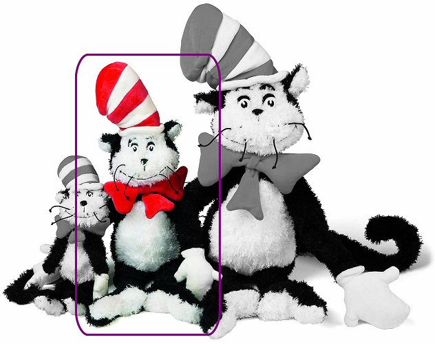 a88f6cc3 Cat in the Hat (Medium) Dr. Seuss Stuffed Animal by Manhattan Toy