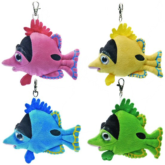 Tropical fish plush keychain stuffed animal by puzzled for Fish stuffed animal