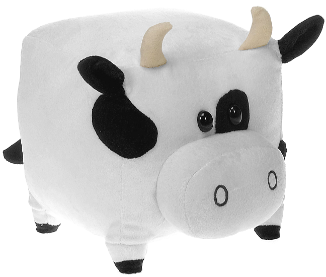 Square Cow Small The New Round Stuffed Animal By Fiesta