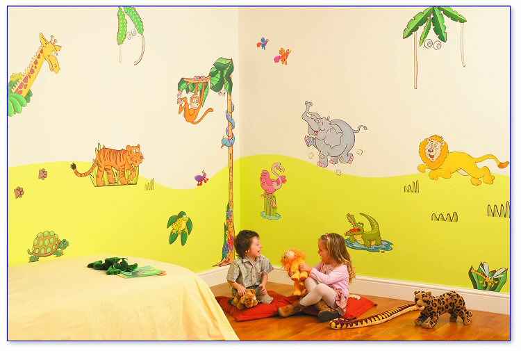 Jungle Safari Room Makeover Kit Wall Decals