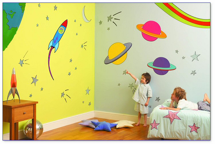 Outer Space Room Makeover Kit Wall Decals