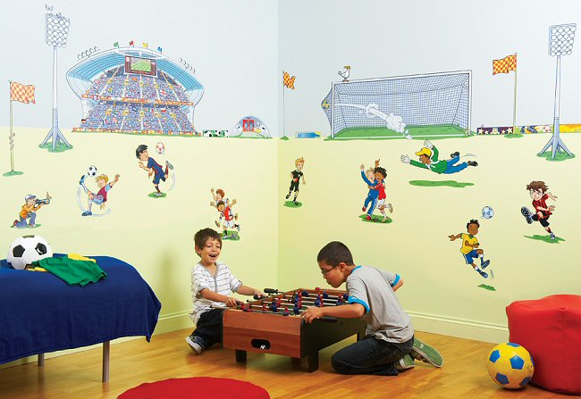 Soccer Room Makeover Kit Wall Decals