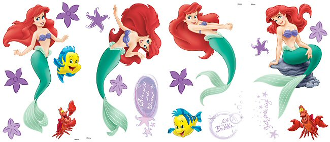 Ariel The Little Mermaid Wall Decals Part 76