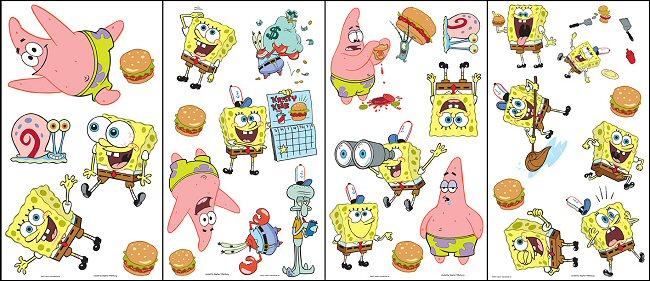 SpongeBob Squarepants Wall Decals Wall Stickers - Spongebob room decals