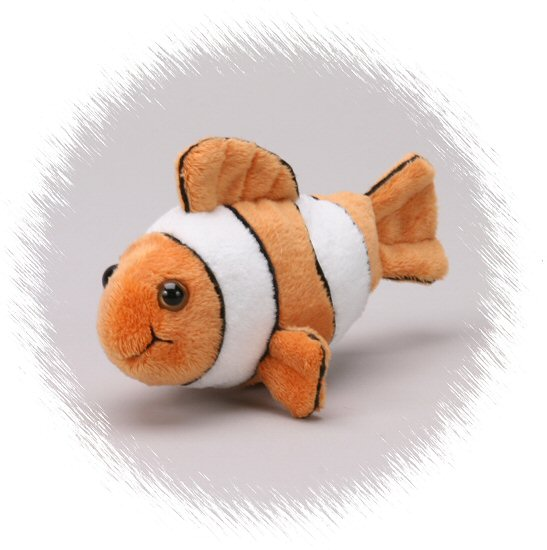 Clown fish handfuls stuffed animal by unipak designs for Fish stuffed animal
