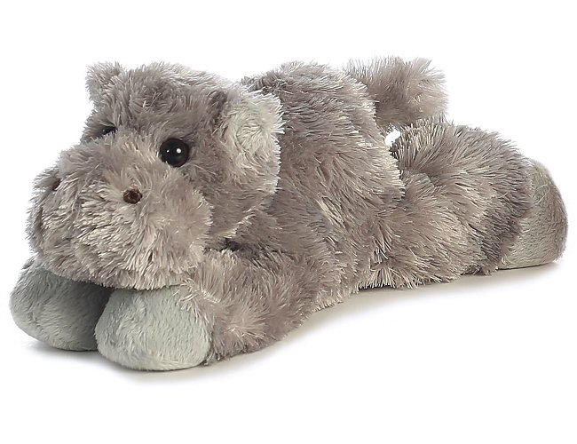 Howie Hippo Mini Flopsies Stuffed Animal By Aurora World