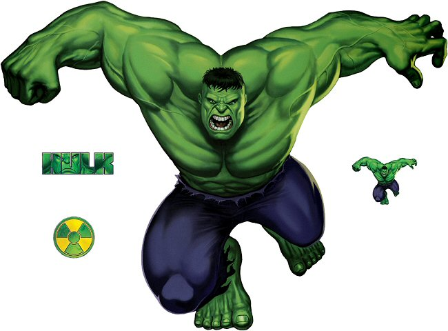 Incredible Hulk Classic Roommates Giant Wall Decals