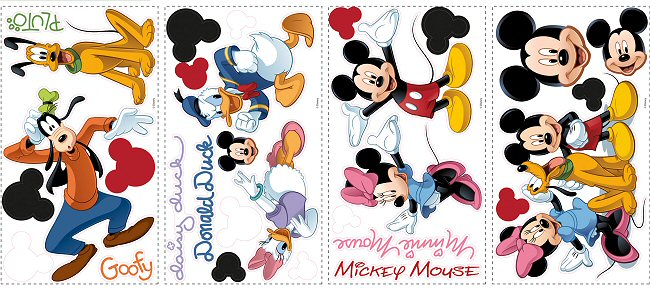 Mickey Mouse u0026 Friends RoomMates Wall Decals & Mickey Mouse u0026 Friends RoomMates Wall Decals u0026 Wall Stickers