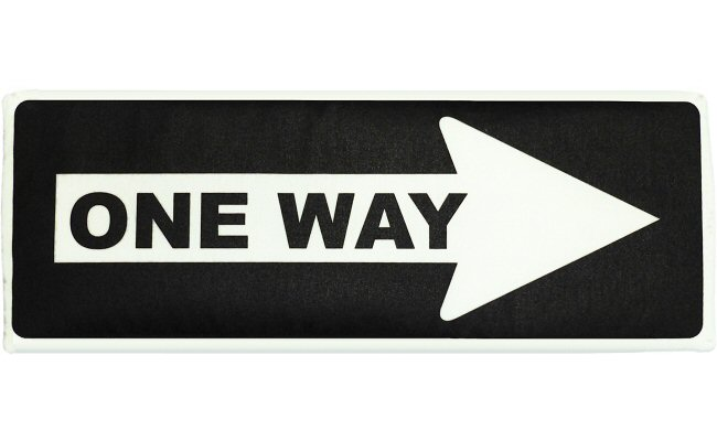 Race Track Wall Art >> One Way Sign Fabric Wall Art