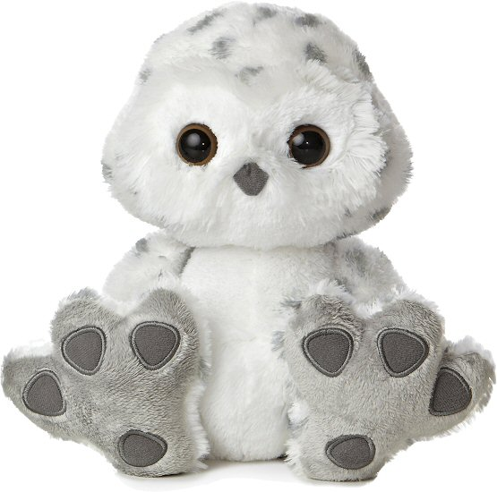 Hummer Snowy Owl Taddle Toes Stuffed Animal By Aurora