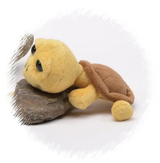Baby Turtle Yellow Big Eyes Stuffed Animal By Unipak