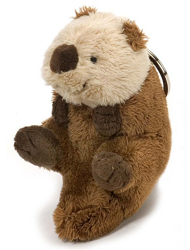 Sea Otter Plush Keychain Stuffed Animal By Wild Republic