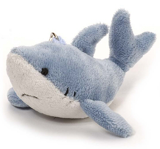 Great White Shark Plush Keychain Stuffed Animal By Wild Republic